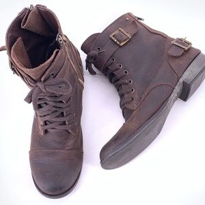Dolce Vita Combat Boots Brown Leather Sz 9 1355